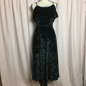 Who What Wear Black Velvety Dress Size S NWT